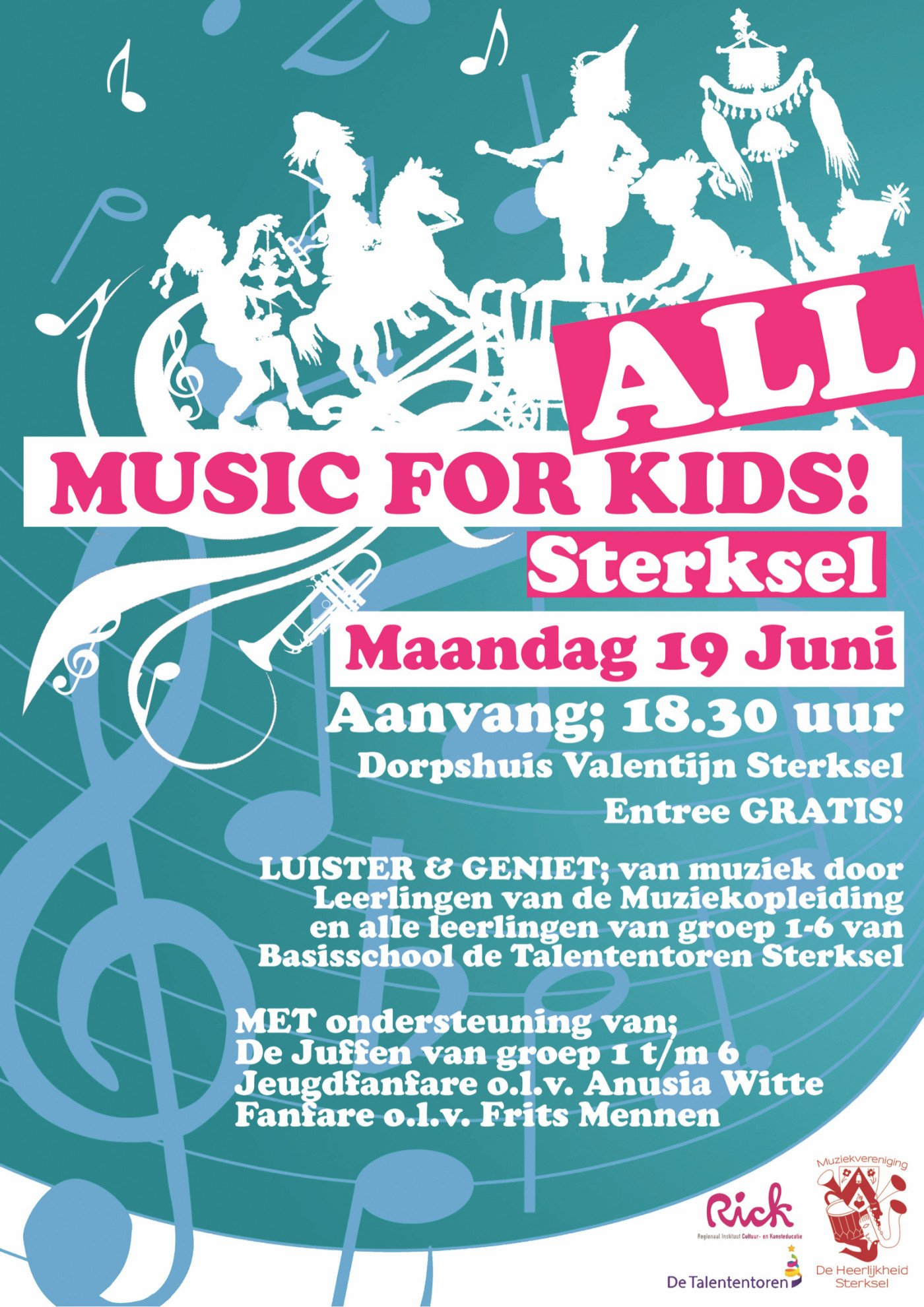 Music for all kids 19 juni Dorpshuis Valentijn